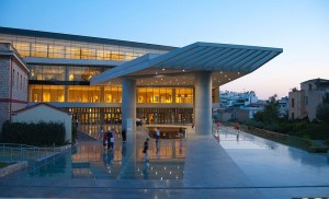 August Full Moon  at the Acropolis Museum