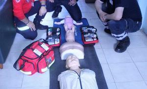1η Εκπαιδευτική Σειρά του Ινστιτούτου Διαχείρισης Ανθρωπογενών και Φυσικών Καταστροφών, στην Εκπαίδευση Βασικής Υποστήριξης της Ζωής BLS AED με χρήση αυτόματου εξωτερικού απινιδωτή