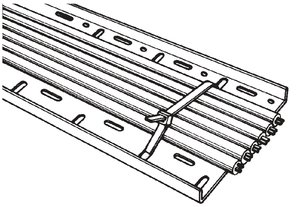 Cable Ties inside serrated for cable tray CTF12090 (111