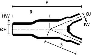 Hellermann Tyton 2-Way Outlet Shape 202-1-B7WM250