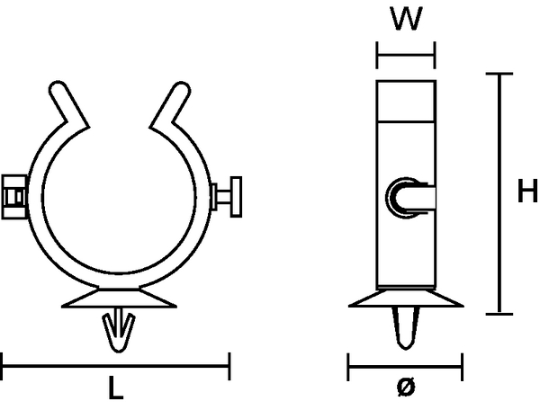 Fixing Elements for Tubes and Harnesses, interconnectable