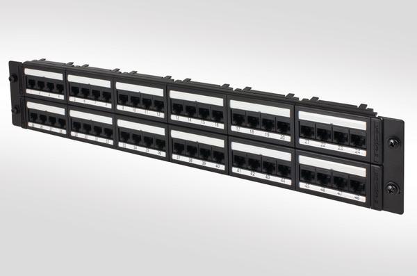 CAT5e Unshielded 48 Port Panel 2/4808IDCG5E/BK (853-25031