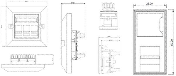 Easy Clip Category 6 EC08IDCNGB/WH (852-05381