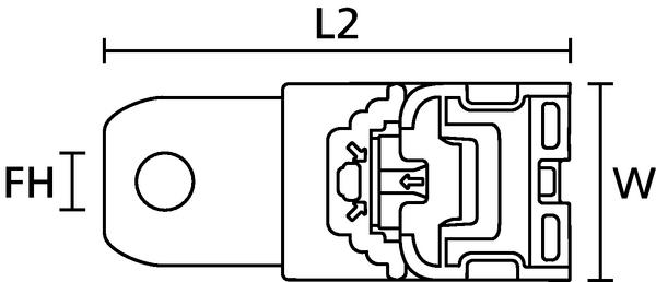 Ratchet P-Clamp Thermoplastic Elastomer (TPE) (151-01532