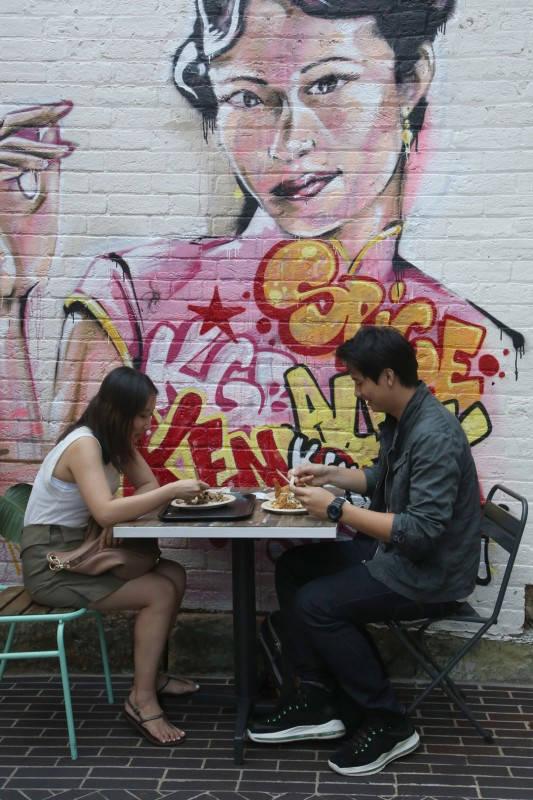 Street food i Chippendale. Foto: Erik Valebrokk.