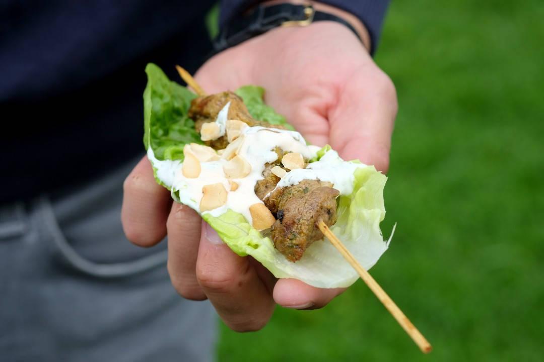 Grillspyd med vietnamesiske smaker. (Foto: Helle Øder Valebrokk)