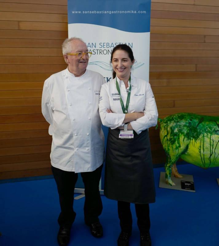 Far og datter Arzak under Gastronomika (Foto: Helle Øder Valebrokk)