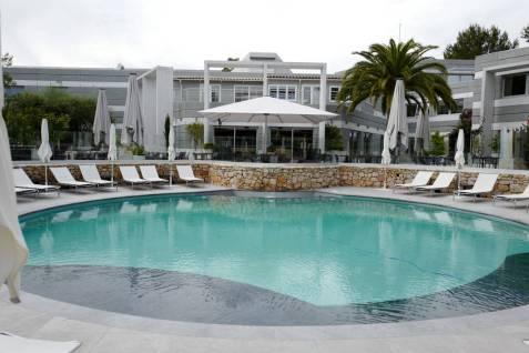 Hotellet har et herlig bassenområde.
