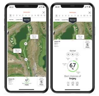 Game improvement using a golf game plan with a gps app