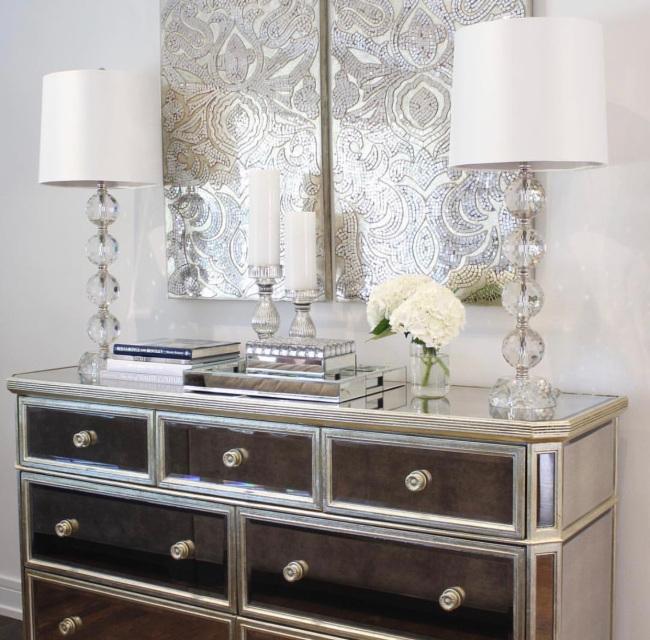 Borghese Mirrored 7Drawer Dresser