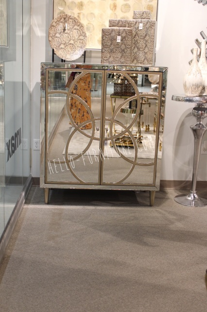 Lily Mirrored Wine Cabinet