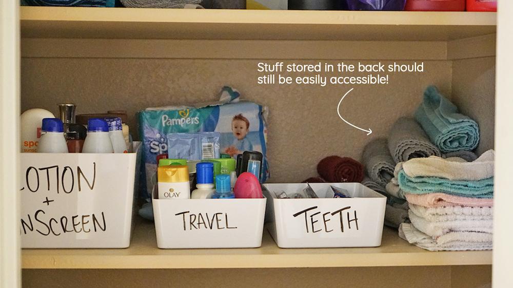 declutter a closet - layering items