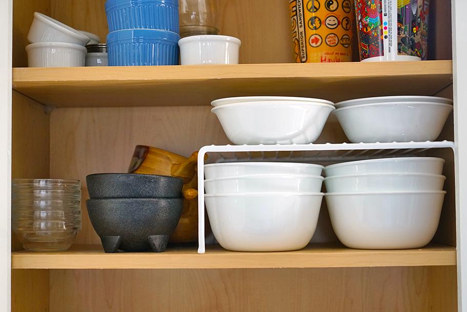 kitchen organization ideas - how to organize bowls