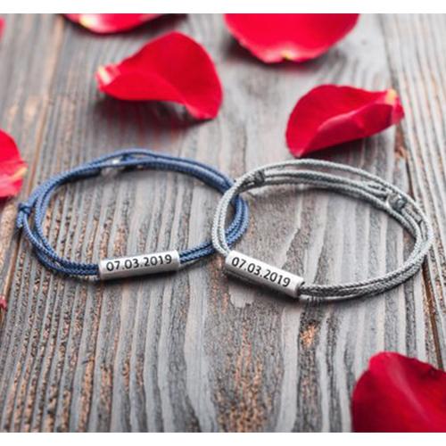 matching custom bracelets gift for boyfriend