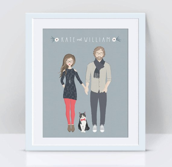 couples portrait customized christmas gift ideas for husband