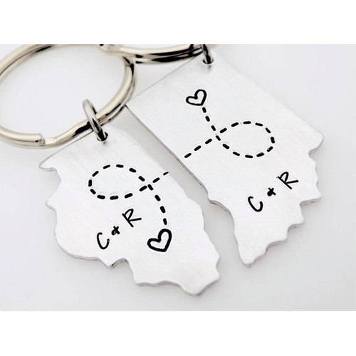 long distance keychain gift for boyfriend