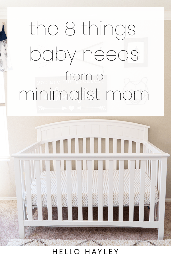 what a baby needs when you're a minimalist