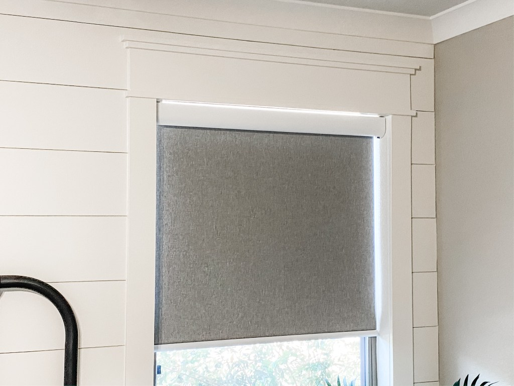 modern farmhosue style tweed inner mount roller shades