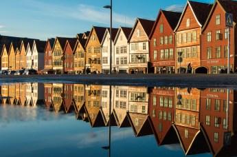 Das Handesviertel Bryggen in Bergen