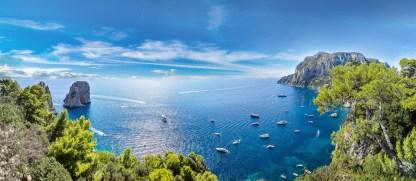 Panorama von der Küste von Capri