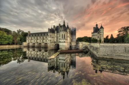 Das Chateau de Chenonceau bei Abendstimmung