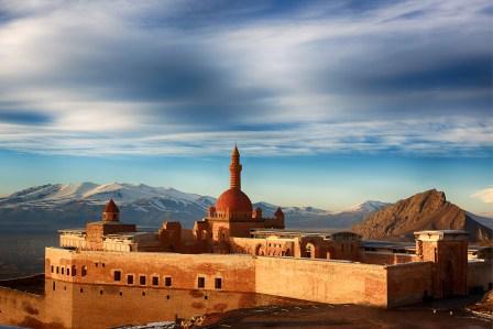 Der Ishak-Pascha-Palast in der Türkei