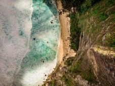Strand auf Nusa Penida von oben