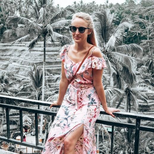Frau bei Tengalang Reisterrassen