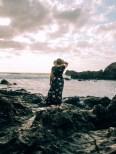 Frau vor Playa de el Golfo