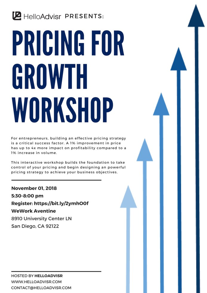 Pricing For Growth San Diego