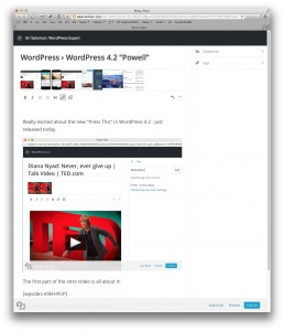 press this wordpress 4.2