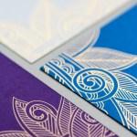 jewel toned teal, ivory and royal purple custom invitation | AZURE