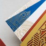 event inserts in pocket printed gold foil | AZURE