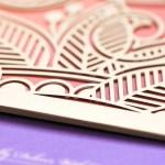 gold laser cut pocket with botanical patterns luxury indian wedding invitation | AZURE