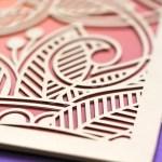 laser cut botanical folio in gold | AZURE