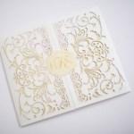 ivory, cream and gold exquisite custom invitations