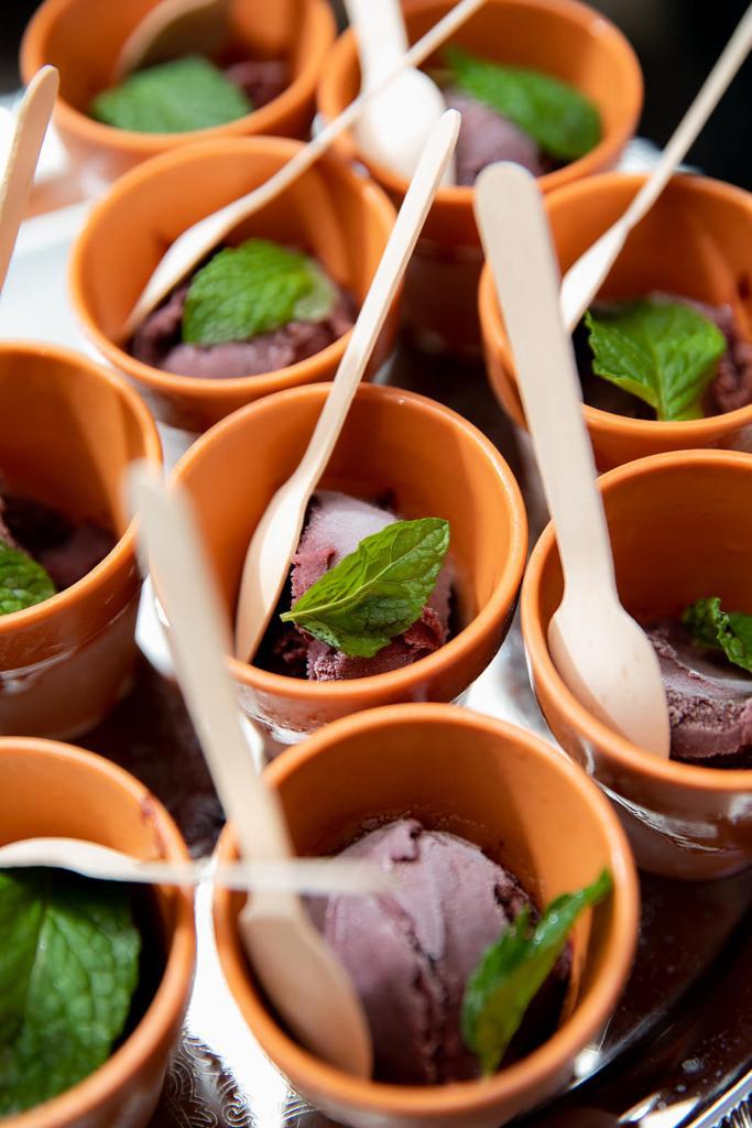 chocolate mint ice cream pots