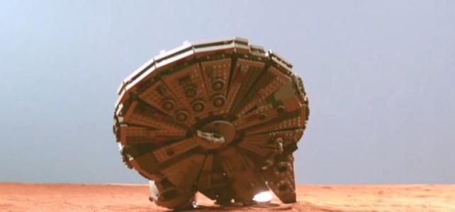 LEGO Star Wars crash slow motion