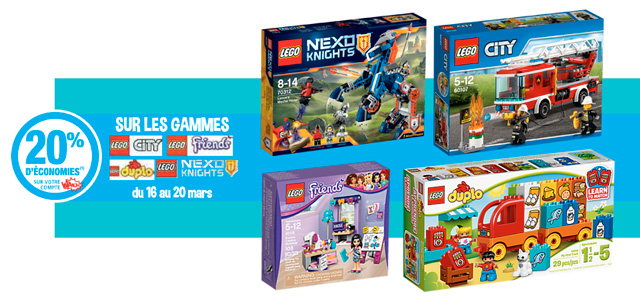 Promotion LEGO Auchan