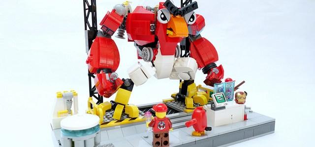 LEGO robot Angry Birds