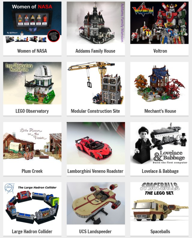 LEGO Ideas 2nde phase review 2016