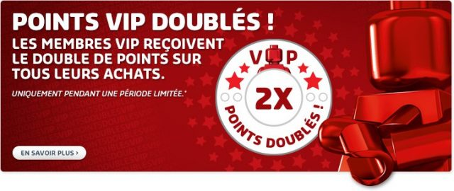 LEGO VIP points doublés