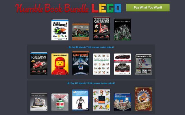 No Starch Press Humble Book Bundle spécial livres LEGO