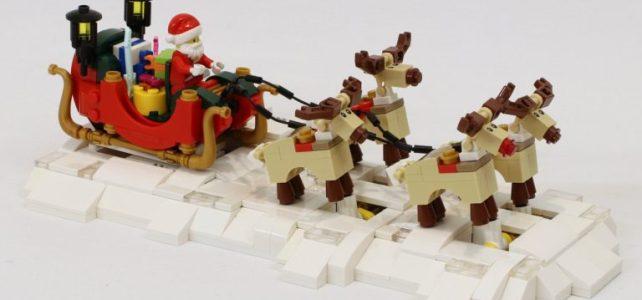 MOC animé traîneau du Père Noel et ses rennes