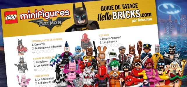 Minifigs à collectionner The LEGO Batman Movie (71017) : le guide de tâtage
