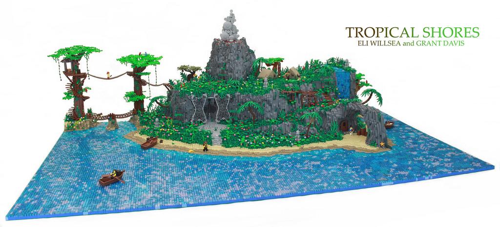 Sous les tropiques l 39 le des pirates hellobricks - Ile pirate lego ...