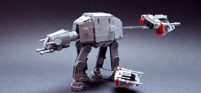 LEGO Star Wars microscale : AT-AT vs Snowspeeders