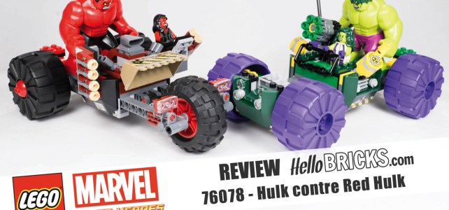 REVIEW LEGO 76078 Hulk contre Red Hulk