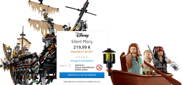 LEGO Pirates des Caraibes 71042 Silent Mary : 219,99€ en France