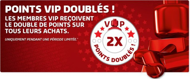 LEGO points VIP doublés